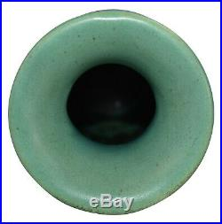 Teco Pottery Matte Green Two Handled Arts And Crafts Ceramic Vase 407