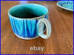 Thomas Toft Vtg Mid Century Danish Modern Tundra Pottery Tea Cup Saucer Denmark