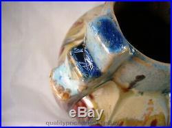 Thulin Art Pottery 1920's Belgium DRIP+ CRYSTALLINE Glaze Art Nouveau/Deco Vase