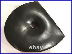 Toyo Japan Ikebana Vase Postmodern Matte Satin Texture Reversible Black Slice