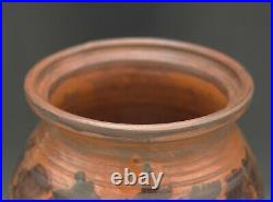 Turtle Creek Potters Jason Bove Redware XL Crock Jar With LID Rare