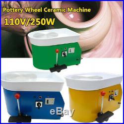 US 110V 250W Electric Pottery Wheel Ceramic Machine 25CM Work Clay Art Craft