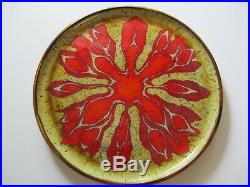 Unusual MID Century 1950's Charger Ceramic Studio Pottery Signed Dragon Dragan