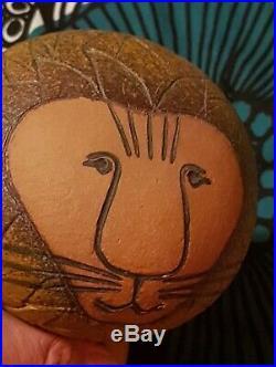 VINTAGE 1970s LISA LARSON GUSTAVSBERG SWEDEN ART POTTERY LION danish modern