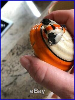 VINTAGE Autumn CLARICE CLIFF Fantasque Beehive Honey Pot / Art Deco LARGE Size