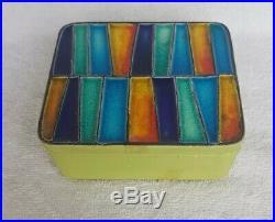 VINTAGE BITOSSI ITALY DECORATIVE SLAB BOX ART POTTERY MID CENTURY MODERN 60s