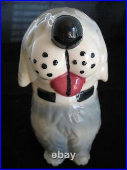 VINTAGE USA DAN The DOG Ceramic Pottery Cookie Treat Jar MCCOY Not-marked-ALPO