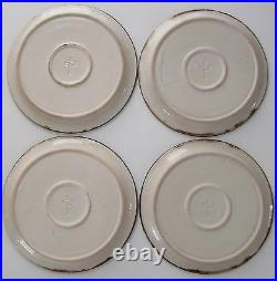 VTG 70's Fred Evangel New Mexico Stoneware Pottery Dinner Plates Set of 4