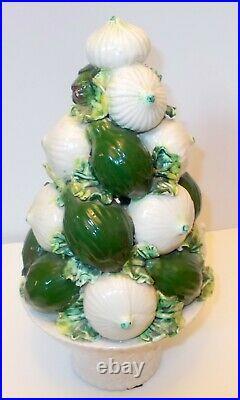 VTG ONION TOPIARY ITALY Ceramic MAJOLICA Art Table Centrepiece Garden CHIC