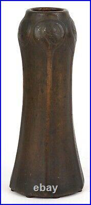 Van Briggle Copper Clad Over Ceramic 9 Tall Vase Shape Number 381
