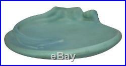 Van Briggle Pottery 1980s Art Nouveau Blue Mermaid Ceramic Tray