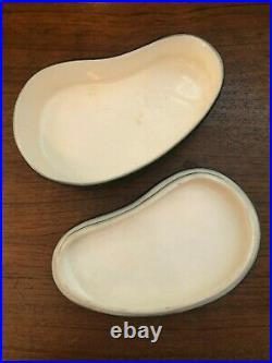 Vintage 1950's Jaru of California Amoeba Shaped Ceramic Trinket Box