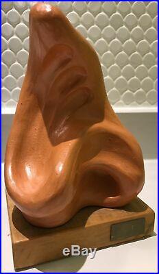 Vintage 60s Abstract Ceramic Sculpture Retro Art Pottery Mid Century Modern