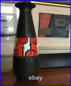 Vintage Aldo Londi Cambogia Bitossi Pottery Vase MID Century Modern Italian
