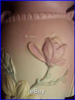 Vintage Antique Large Hull Art Pottery Magnolia Pottery Vase 13 Tall L@@k