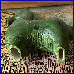 Vintage BITOSSI style Ceramic Greek-style Horse Signed Art Pottery Green