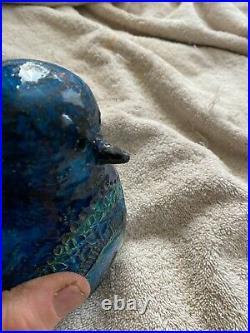 Vintage Bitossi Penguin Bird Art Pottery Italian ceramics No Marks Repaired