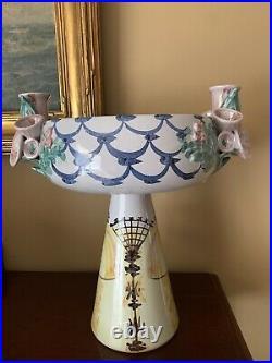 Vintage Bjorn Wiinblad Pottery Denmark Danmark Ceramic Candlestick Vase MCM 12