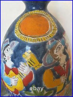 Vintage DeSimone Italian Art Pottery Large vase Picasso Mid Century Italian Art