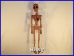 Vintage Decorative Ceramic Art Pottery Skeleton Skull Funky Wall Decor