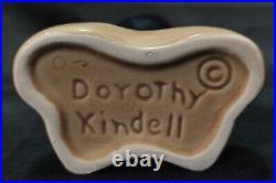 Vintage Dorothy Kindell Hawaiian Nude Signed Ceramic Vase California Pottery ART