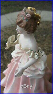 Vintage Florence Ceramics California Art Pottery Martha In Pink Figurine