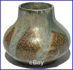 Vintage French Signed Studio Art Pottery Miniature Glazed Vase / Pot
