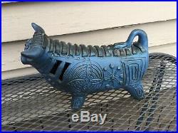Vintage Gus McLaren Mid Century Art Pottery Bull, Ceramic Blue Bull, Original