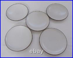 Vintage Heath Ceramic Snack/Dessert Plates Set of 5 Mid-Century New Old Stock