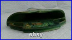 Vintage Htf Roseville Pottery Green Baneda Wall Pocket 1269-8 Near Mint Label
