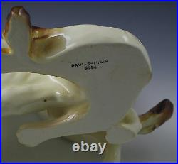Vintage Italy Ceramic XL Borzoi Wolfhound Dogs Sculpture