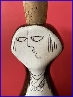 Vintage JARU Pottery MidCentury Modern Human Abstract Jar Edmund Ronaky Face Jug