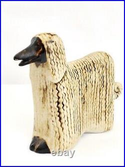 Vintage LISA LARSON GUSTAVSBERG Ceramic Figurine Afghan Dog Hound Sweden