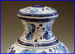 Vintage Mancioli Lamp Italian Art Pottery Raymor Vase Ceramic Turquoise Incised