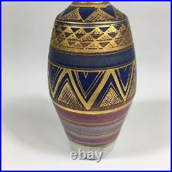 Vintage Mary Rich Studio Pottery Vase 18.5cm In Height