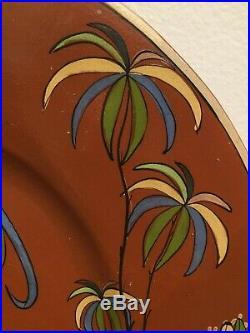 Vintage Mexican Ceramic Pottery Folk Art Charger Plate Josefina Arias