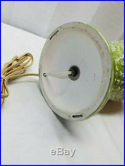 Vintage Mid Century Modern Ceramic Art Pottery Bubble Lava Popcorn Glaze Lamp