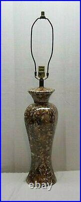 Vintage Mid Century Modern Drip Fat Lava Glaze Ceramic Art Pottery Table Lamp
