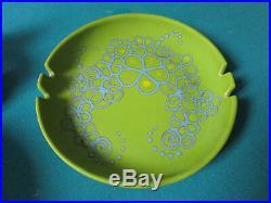 Vintage Mid-Century SASCHA BRASTOFF CERAMIC GREEN Ash Tray CA Art Pottery