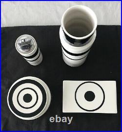 Vintage Midcentury Raymor Mancioli Ceramic 4 Piece Set, Made in Italy, Excellent
