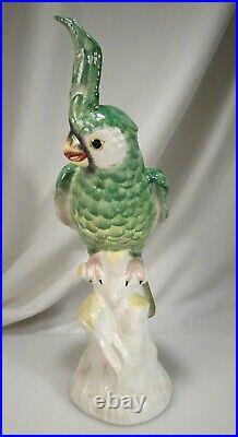 Vintage Mottahedeh Exotic Bird Cockatiel 16 Italian Ceramic Figure 58474