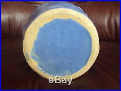 Vintage Original Art Pottery Large Blue Mccoy Sand Dollar Vase 14. Excellent