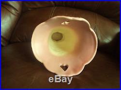 Vintage Original Hull Art Pottery B11 10 1/2 Pink Bow Knot Vase. Beautiful