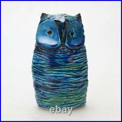 Vintage Pottery Bitossi Rimini Blu Aldo Londi Italian Blue Ceramic Owl