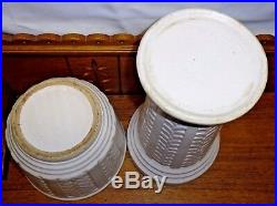 Vintage Robinson Ransbottom White Art Pottery Jardiniere & Pedestal 131