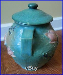 Vintage Roseville Art Pottery Magnolia 2-8 Cookie Jar