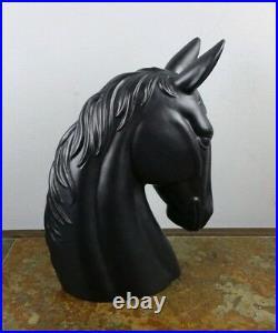 Vintage Royal Haeger 614 U. S. A Black Horse Head Large Art Pottery Figurine