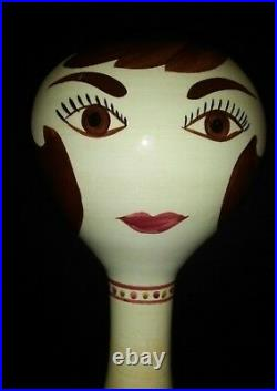 Vintage Stangl Pottery Ceramic Mannequin Head Hat Wig Stand 15 limited to 1968