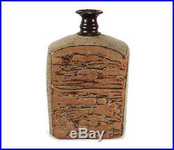 Vintage Studio Art Pottery Vase Brutalist Texture Jerry Meek California Hawaii