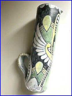 Vintage TILGMANS Keramik SWEDEN Marian Zawadsky ART POTTERY Mid-Century Vase MCM
